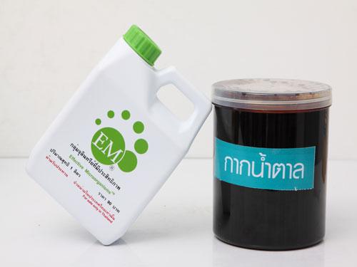 จุลินทรีย์ EM และกากน้ำตาล ส่วนผสมในการทำผลิตภัณฑ์จากขยะ