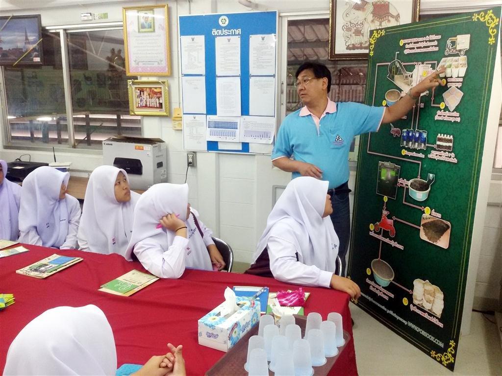 ศูนย์รีไซเคิลขยะชุมชนพบสุขต้อนรับนักเรียน โรงเรียนธรรมมิสลาม ท่าอิฐ
