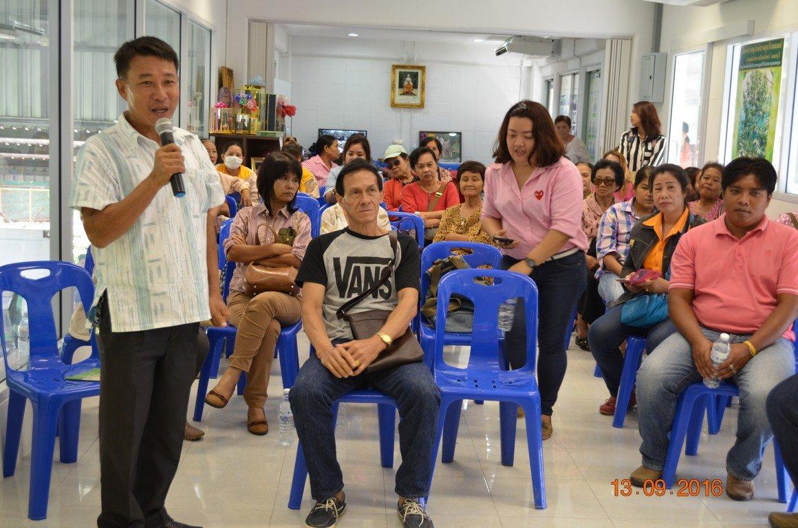 วันนี้ 13 กันยายน 2559ต้อนรับคณะอบต.ดงละคร จ.นครนายก ศึกษาดูงานเรื่องการมีส่วนร่วมของชุมชนในการคัดแยกขยะที่ต้นทาง การจัดการขยะสด ศูนย์รีไซเคิลขยะชุมชนพบสุข เทศบาลนครปากเกร็ด