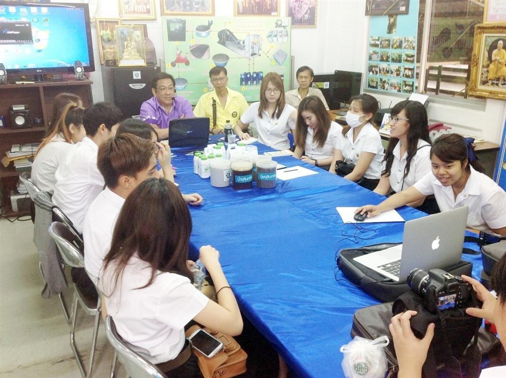 6 เมษายน 2558 ต้อนรับนักศึกษาคณะรัฐประศาสนศาสตร์ มหาวิทยาลัยธรรมศาสตร์ ท่าพระจันทร์ มาดูงานที่ศูนย์รีไซเคิลชุมชนพบสุข